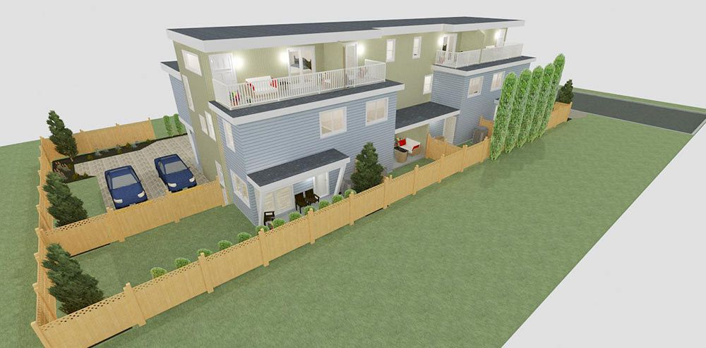 Rendering of 4 Plex Development