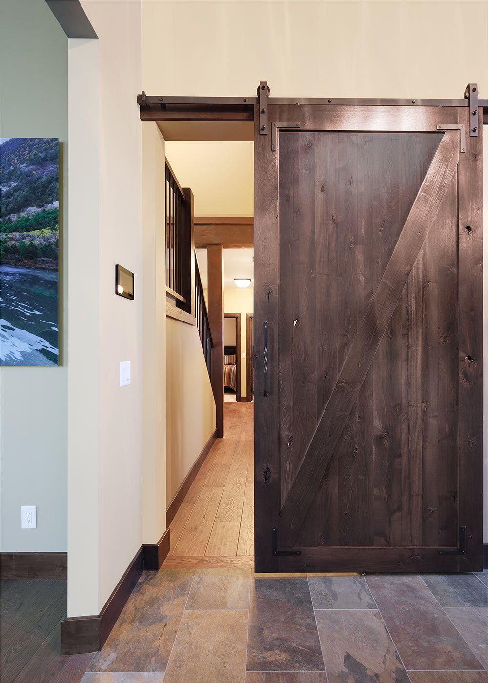 Custom built barn door.