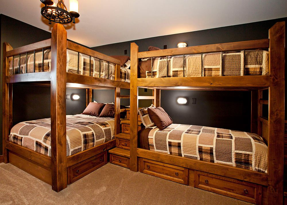 Custom bunk beds, built-in.